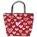 Watercolor Valentine s Day Hearts Bucket Bags