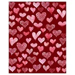 Watercolor Valentine s Day Hearts Drawstring Bag (Small) Back