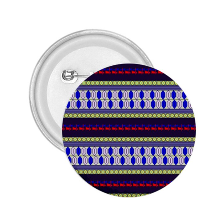 Colorful Retro Geometric Pattern 2.25  Buttons