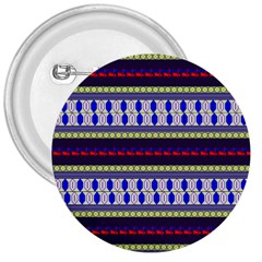 Colorful Retro Geometric Pattern 3  Buttons by DanaeStudio