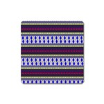 Colorful Retro Geometric Pattern Square Magnet Front