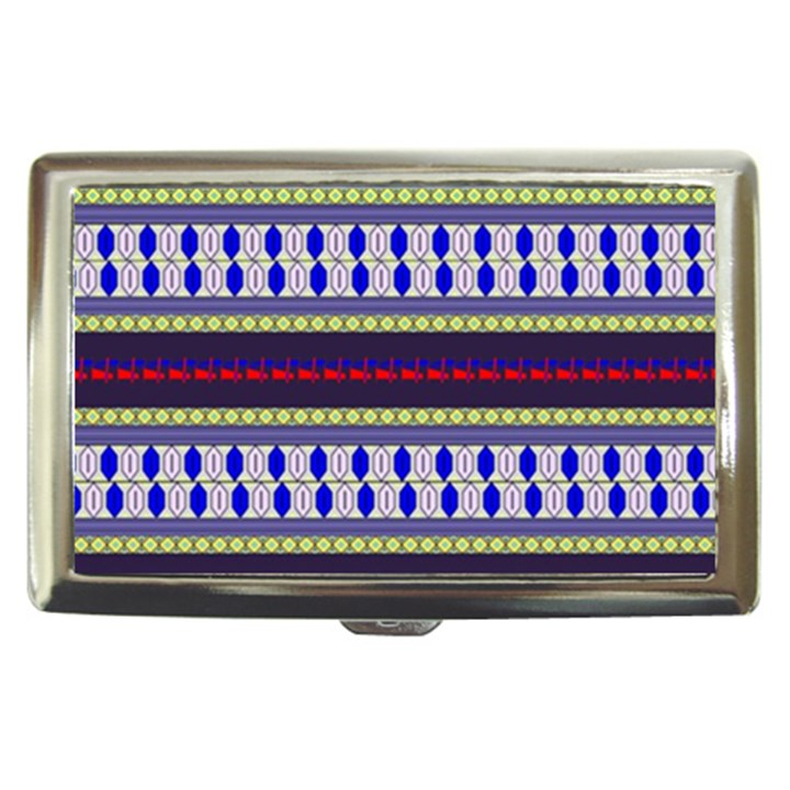 Colorful Retro Geometric Pattern Cigarette Money Cases