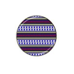 Colorful Retro Geometric Pattern Hat Clip Ball Marker by DanaeStudio