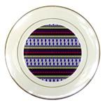 Colorful Retro Geometric Pattern Porcelain Plates Front