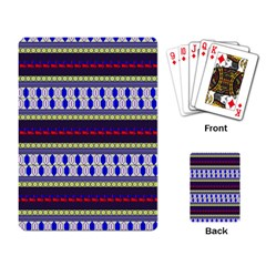 Colorful Retro Geometric Pattern Playing Card by DanaeStudio