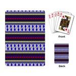 Colorful Retro Geometric Pattern Playing Card Back