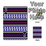 Colorful Retro Geometric Pattern Playing Cards 54 Designs  Front - Club2
