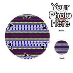Colorful Retro Geometric Pattern Playing Cards 54 (round)  by DanaeStudio