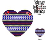 Colorful Retro Geometric Pattern Playing Cards 54 (Heart)  Front - Heart6