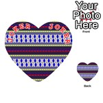 Colorful Retro Geometric Pattern Playing Cards 54 (Heart)  Front - Joker2