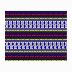 Colorful Retro Geometric Pattern Small Glasses Cloth (2 Side) by DanaeStudio