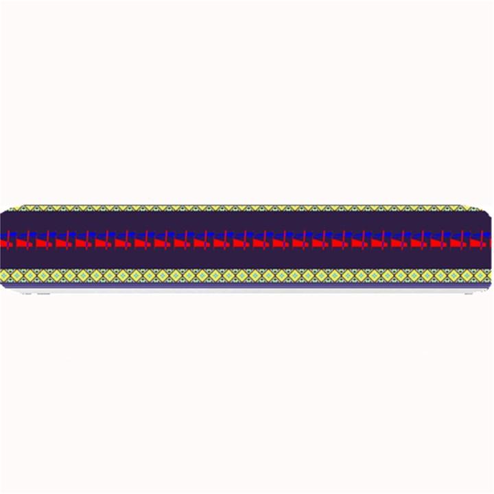 Colorful Retro Geometric Pattern Small Bar Mats