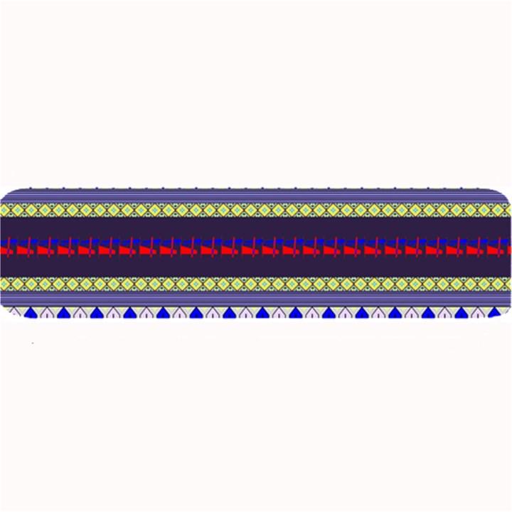 Colorful Retro Geometric Pattern Large Bar Mats