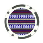 Colorful Retro Geometric Pattern Poker Chip Card Guards Back