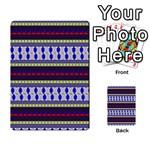 Colorful Retro Geometric Pattern Multi-purpose Cards (Rectangle)  Back 11