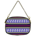Colorful Retro Geometric Pattern Chain Purses (Two Sides)  Back