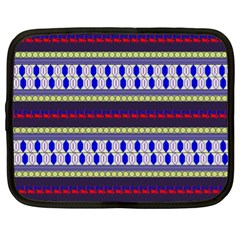 Colorful Retro Geometric Pattern Netbook Case (xl)  by DanaeStudio