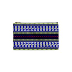 Colorful Retro Geometric Pattern Cosmetic Bag (small)  by DanaeStudio