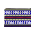 Colorful Retro Geometric Pattern Cosmetic Bag (Large)  Front