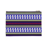 Colorful Retro Geometric Pattern Cosmetic Bag (Large)  Back