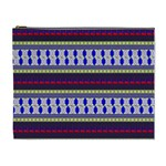 Colorful Retro Geometric Pattern Cosmetic Bag (XL) Front