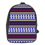 Colorful Retro Geometric Pattern School Bags(Large)  Front