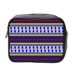 Colorful Retro Geometric Pattern Mini Toiletries Bag 2 Side by DanaeStudio
