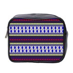 Colorful Retro Geometric Pattern Mini Toiletries Bag 2-Side Front
