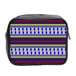 Colorful Retro Geometric Pattern Mini Toiletries Bag 2-Side Back