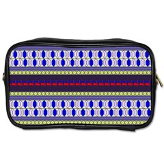 Colorful Retro Geometric Pattern Toiletries Bags 2 Side by DanaeStudio