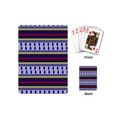 Colorful Retro Geometric Pattern Playing Cards (mini)