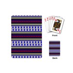 Colorful Retro Geometric Pattern Playing Cards (Mini)  Back