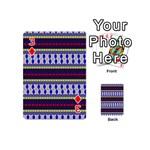 Colorful Retro Geometric Pattern Playing Cards 54 (Mini)  Front - Diamond3