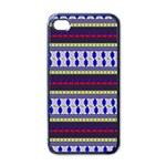 Colorful Retro Geometric Pattern Apple iPhone 4 Case (Black) Front