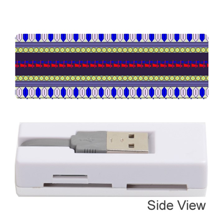 Colorful Retro Geometric Pattern Memory Card Reader (Stick)