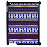 Colorful Retro Geometric Pattern Apple iPad 2 Case (Black) Front