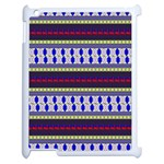 Colorful Retro Geometric Pattern Apple iPad 2 Case (White) Front