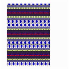 Colorful Retro Geometric Pattern Small Garden Flag (two Sides) by DanaeStudio