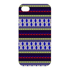 Colorful Retro Geometric Pattern Apple Iphone 4/4s Premium Hardshell Case by DanaeStudio
