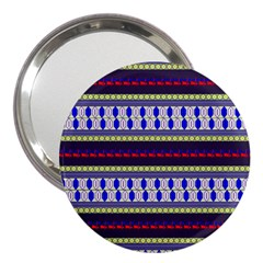 Colorful Retro Geometric Pattern 3  Handbag Mirrors by DanaeStudio