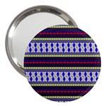 Colorful Retro Geometric Pattern 3  Handbag Mirrors Front