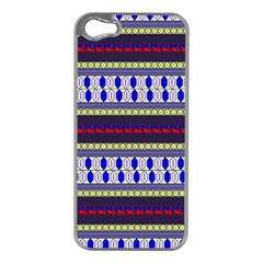 Colorful Retro Geometric Pattern Apple Iphone 5 Case (silver) by DanaeStudio