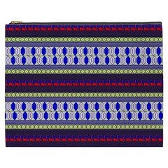 Colorful Retro Geometric Pattern Cosmetic Bag (xxxl)  by DanaeStudio