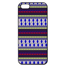 Colorful Retro Geometric Pattern Apple Iphone 5 Seamless Case (black) by DanaeStudio