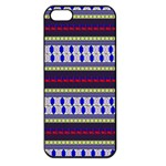 Colorful Retro Geometric Pattern Apple iPhone 5 Seamless Case (Black) Front