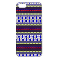 Colorful Retro Geometric Pattern Apple Seamless Iphone 5 Case (clear) by DanaeStudio