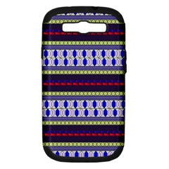 Colorful Retro Geometric Pattern Samsung Galaxy S Iii Hardshell Case (pc+silicone) by DanaeStudio