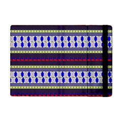 Colorful Retro Geometric Pattern Apple Ipad Mini Flip Case