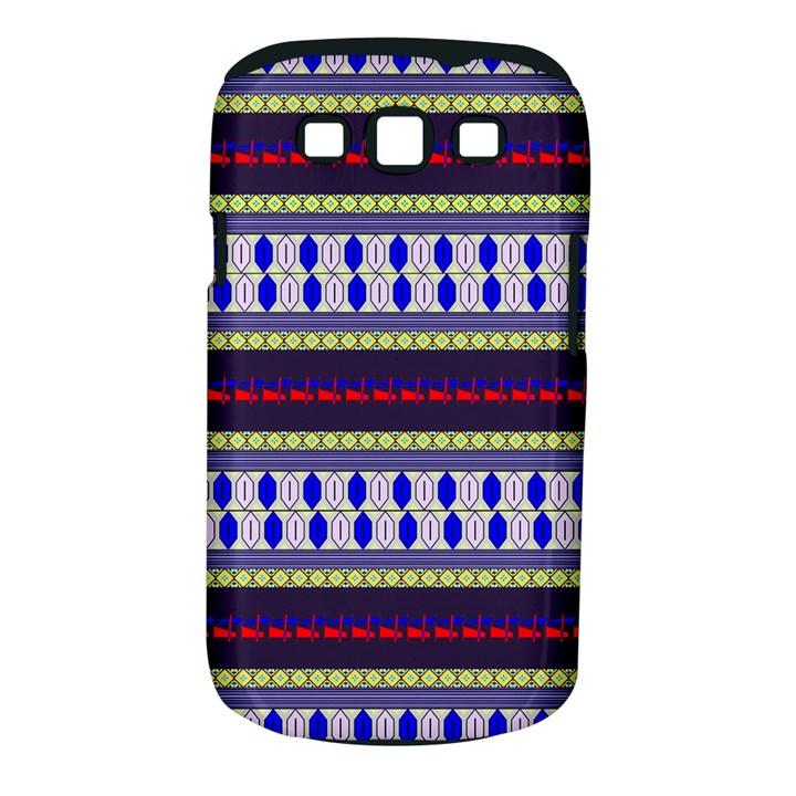 Colorful Retro Geometric Pattern Samsung Galaxy S III Classic Hardshell Case (PC+Silicone)