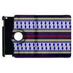 Colorful Retro Geometric Pattern Apple iPad 3/4 Flip 360 Case Front